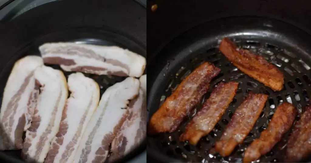 thick cut air fryer bacon