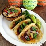 Ancho Chile Chicken Street Tacos with Pineapple Salsa