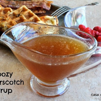Boozy Butterscotch Syrup