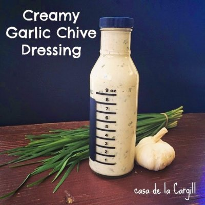 Creamy Garlic Chive Dressing