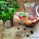 Blueberry White Peach Basil Sangria