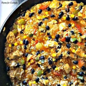 Southwest Chicken and Rice Skillet~ Thyme for Cocktails
