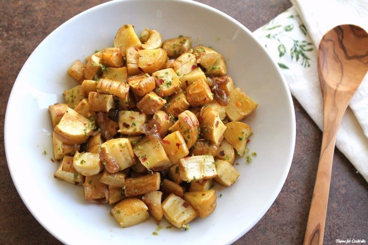 Chipotle Honey Roast Parsnips~ Thyme for Cocktails
