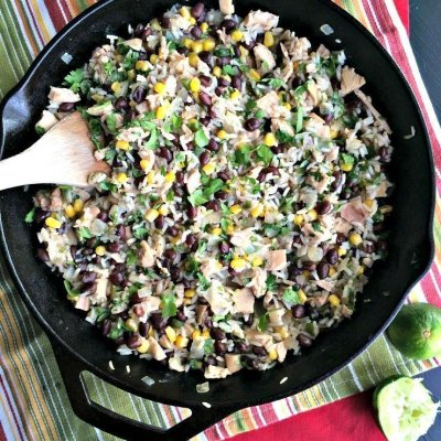 Cilantro Lime Chicken & Rice Skillet