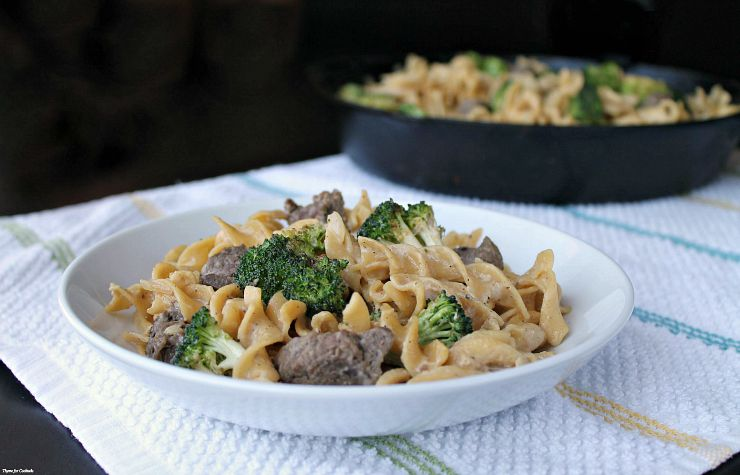 Creamy Beef Tips and Broccoli Skillet~ Thyme for Cocktails