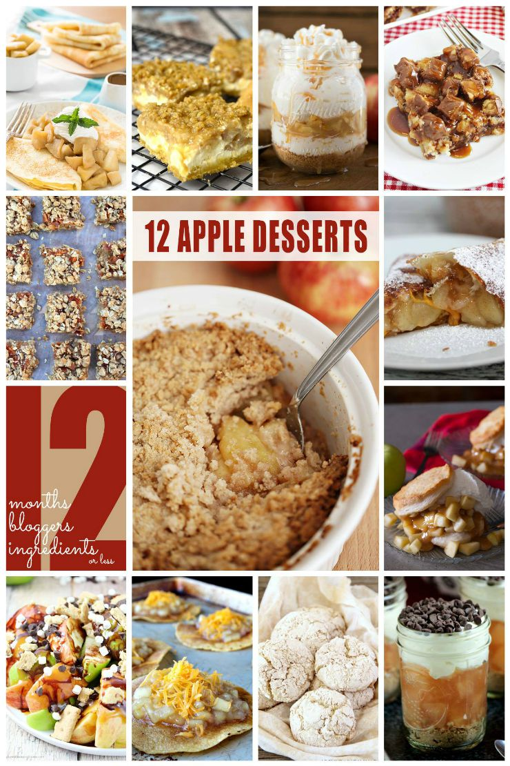 12 Bloggers Apple Desserts August 2015
