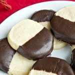 Chocolate Amaretto Shortbread Cookies