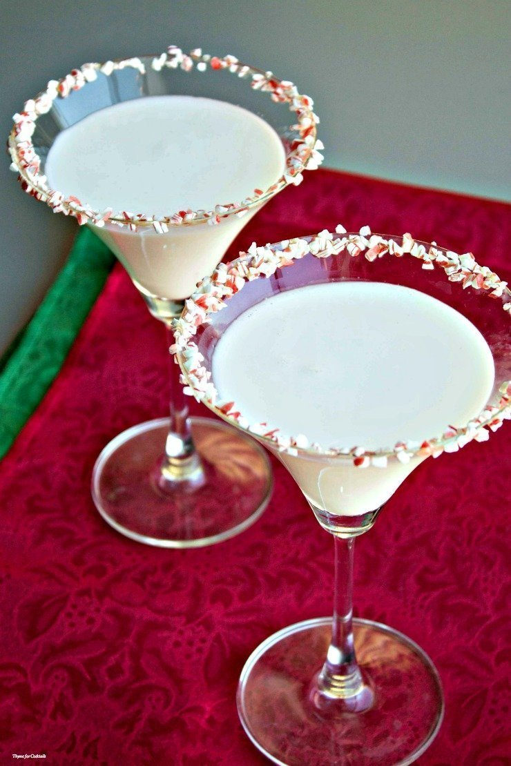 You will be forever obsessed with this rich, decadent White Chocolate Peppermint Mocktini recipe. It's the perfect way to get in a festive holiday mood!