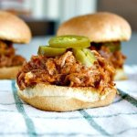 Honey Whiskey BBQ Pork Sliders