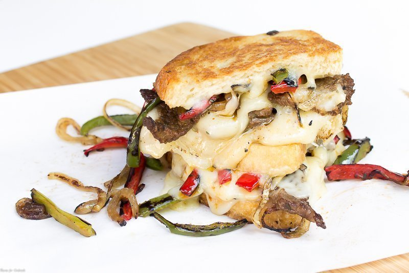 Steak Fajita Grilled Cheese