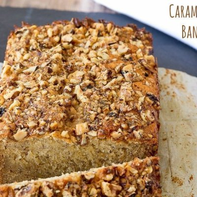 Caramel Walnut Banana Bread