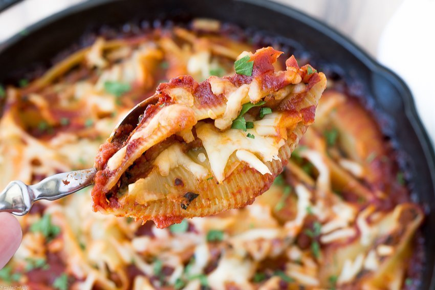 Spinach And Chorizo Stuffed Shells