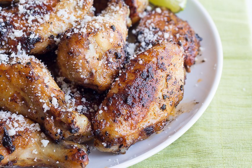 Get the most from your weekend eats by making these Chipotle Cotija Chicken Wings. Friends and family will be begging you for this simple, Cinco de Mayo wing recipe.