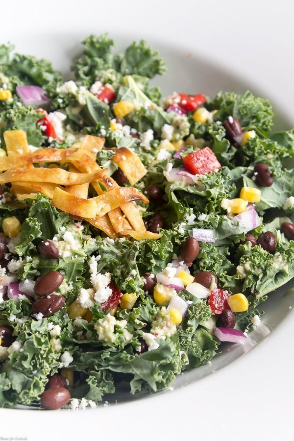 A hearty Southwestern Kale Chopped Salad is the perfect way to satisfy your cravings for a healthy salad full of south of the border flavors.