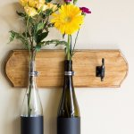 DIY Wine Bottle Wall Vase Tutorial