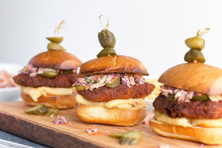 This sweet and spicy Nashville Hot Chicken Sliders recipe is the perfect treat to share with friends while you listen to your favorite country artists.