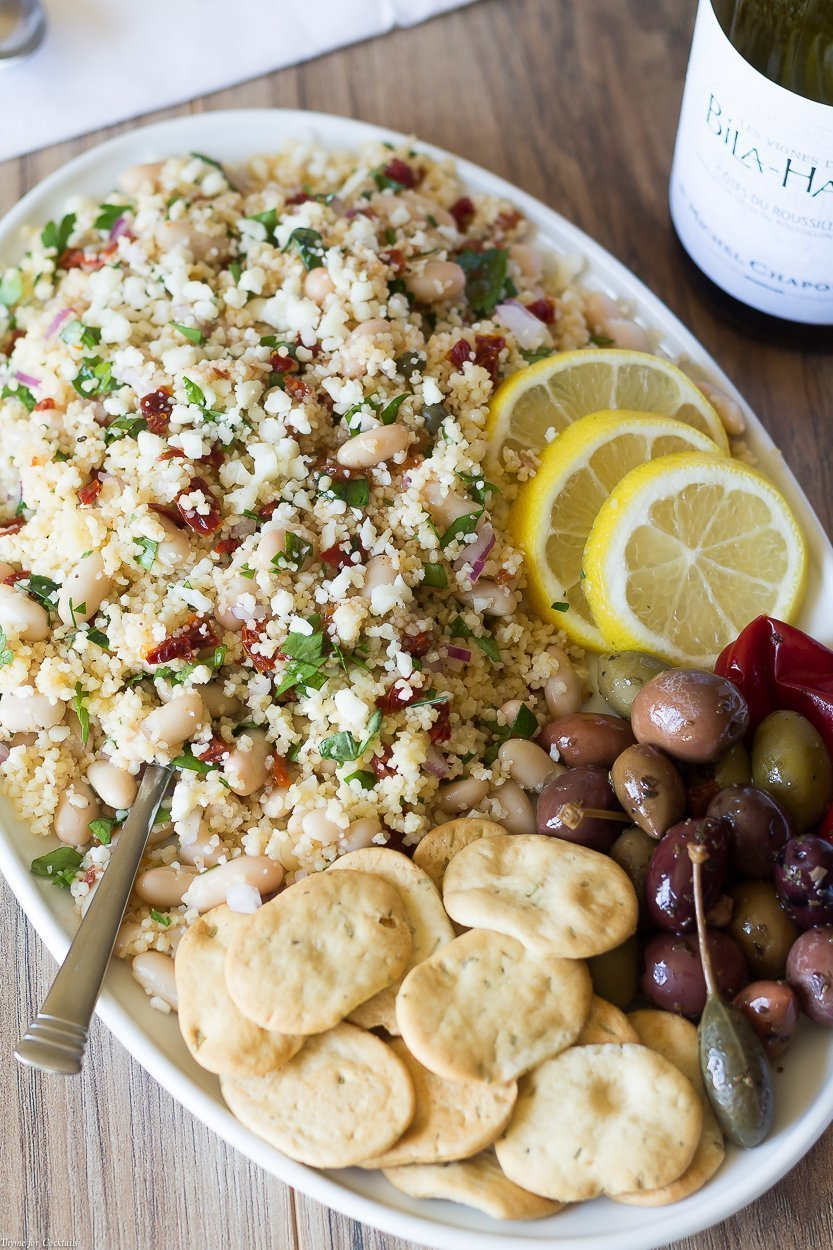 Pair a glass of your favoriteGrenache wine with this isWhite Bean Couscous Salad recipe for a simple meal reminiscent ofMediterranean lifestyle.