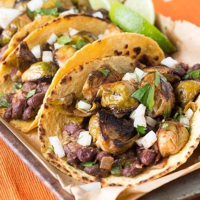 Black Bean Brussels Sprouts Tacos