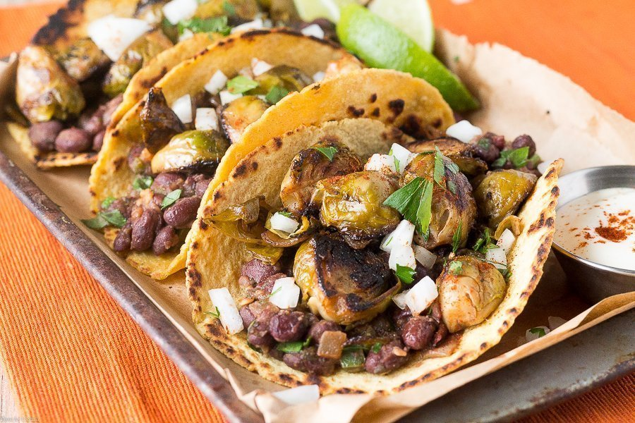 Are you ready for a great seasonal taco that will blow your taste buds away? Then you are going to go nuts over these Black Bean Brussels Sprouts Tacos.