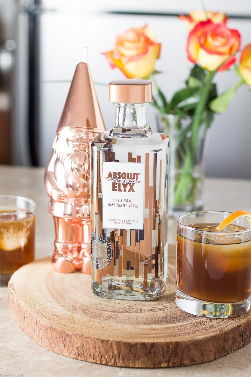 You need to experience the luxury of sipping on a cozy Absolut Elyx Cold Fashioned to celebrate the little wins at the end of a busy day.