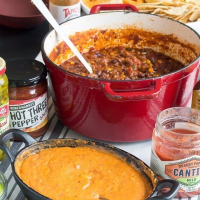 Tex Mex Chili Cheese Nacho Bar