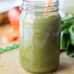 Power Green Pineapple Ginger Smoothie with ingredients