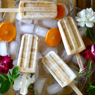 Vegan Pumpkin Spice Popsicles