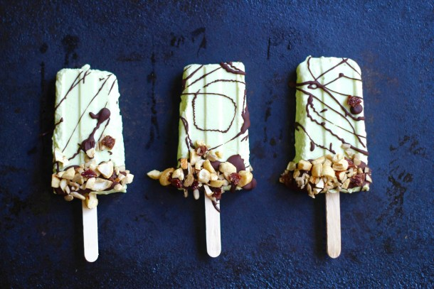 Avocado Coconut Ice Cream Popsicles