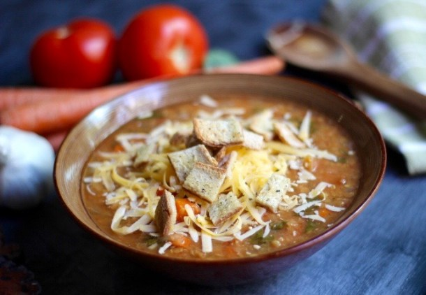 Hearty Bone Broth Lentil Soup