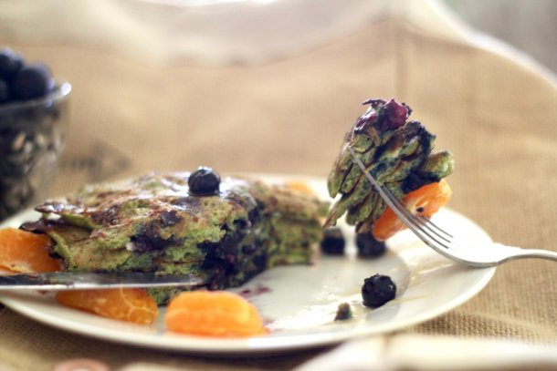 Spinach Cottage Cheese Pancakes
