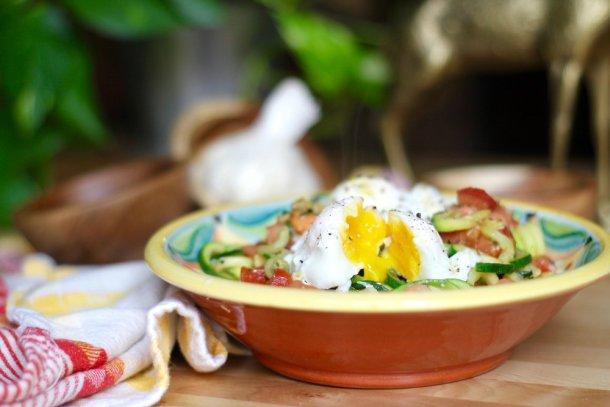 Tomato Garlic Zoodles