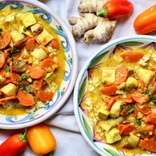 Thai Curry Soup with Tofu