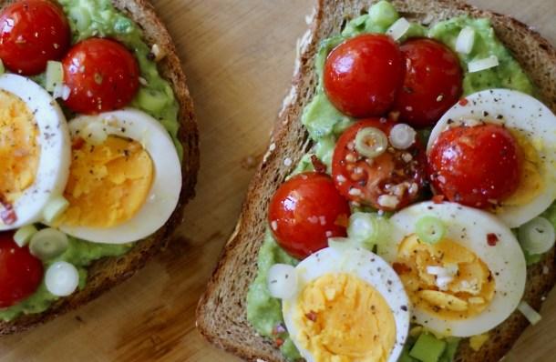 loaded avocado toast meal prep