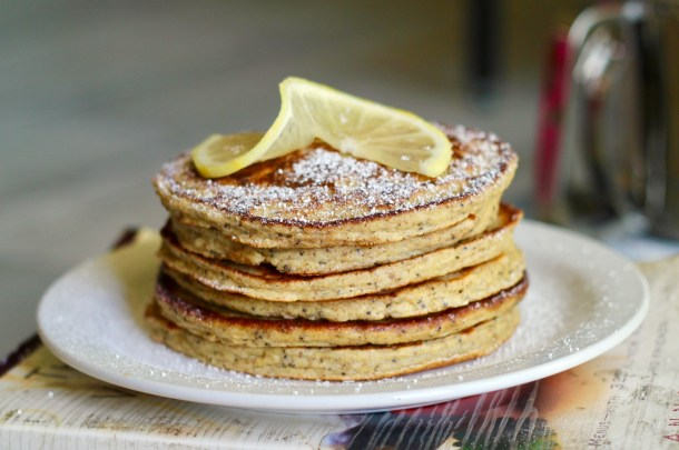 Lemon Poppyseed Yogurt Pancakes
