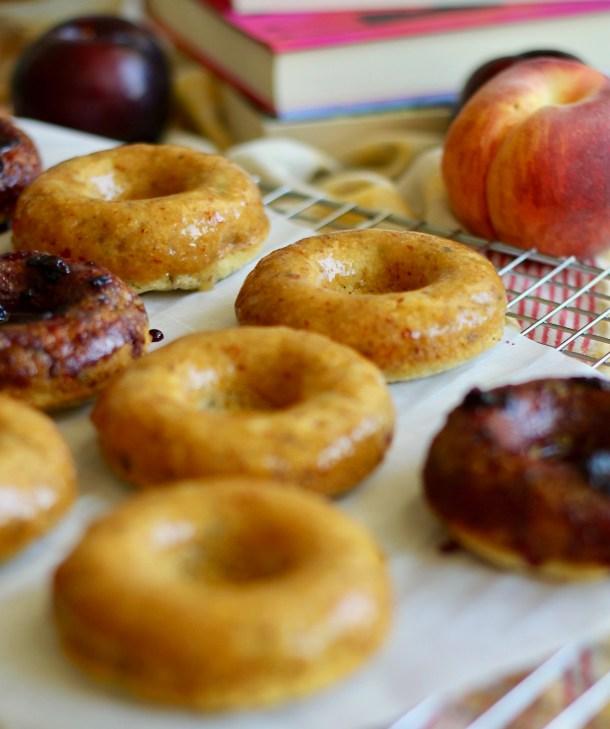 Vegan Peach Cornbread Donuts