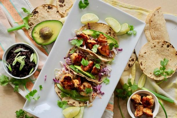 Spicy Buffalo Cauliflower Tacos