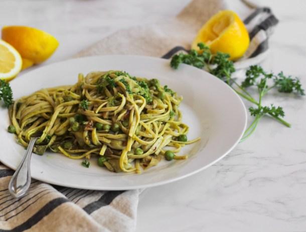 quick lemon parsley pasta