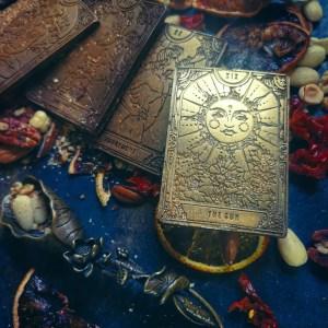 tarot card chocolate