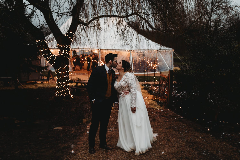 Northamptonshire winter outdoor wedding