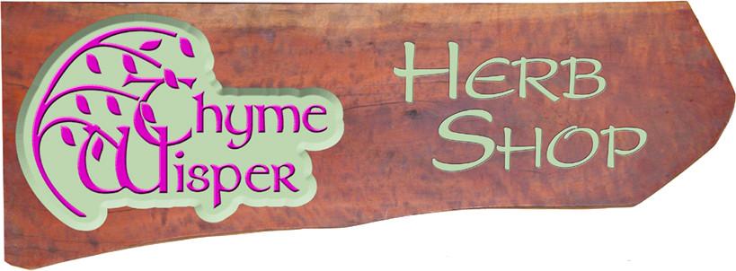 Thyme Wisper Herb Shop Sign