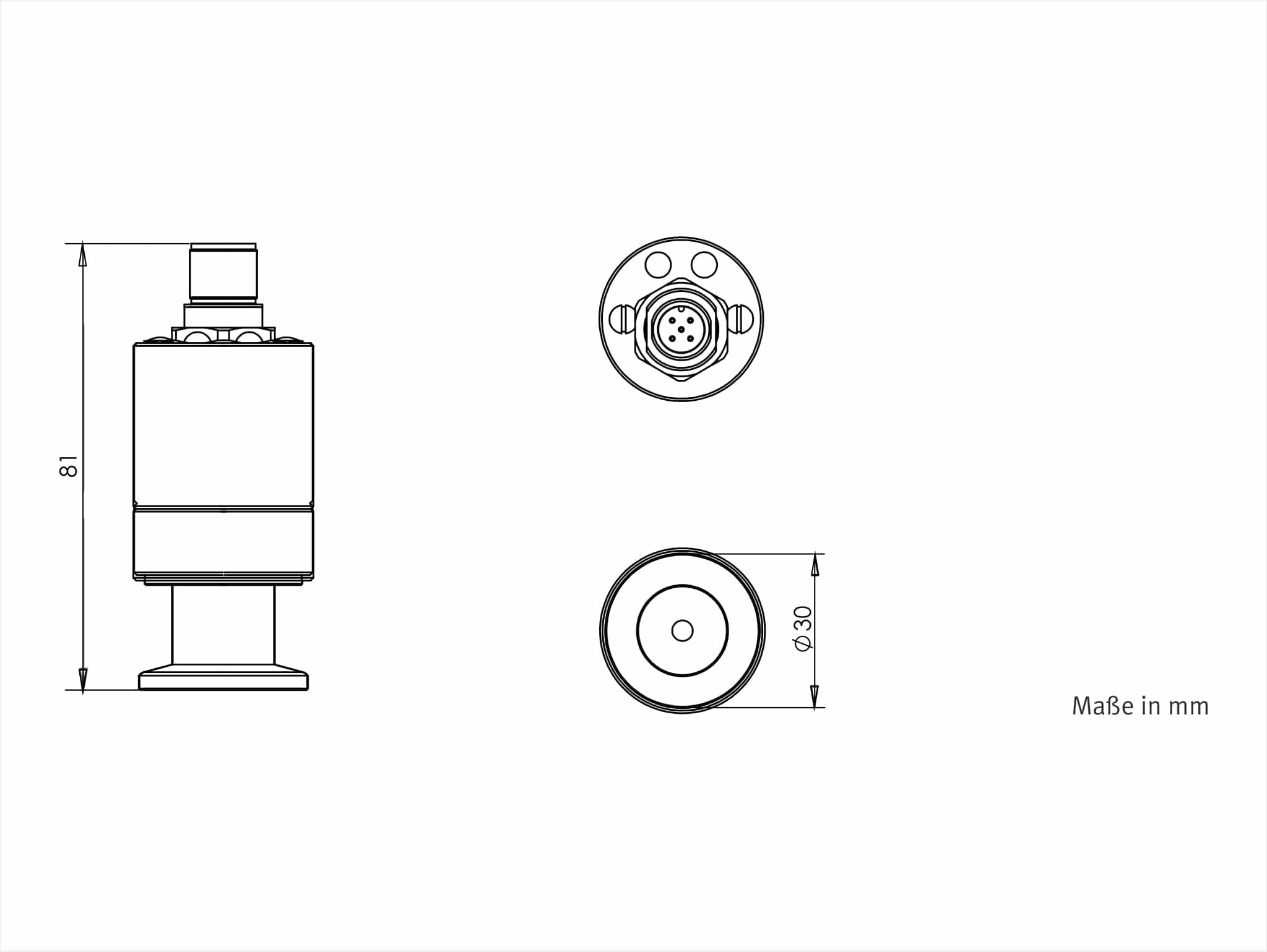 Vsp63ma4 Vacuum Transducer To 1e 4 Mbar Dn16kf 4 20 Ma Output