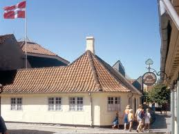 Hans Christian Andersen`s house seen from the other direction