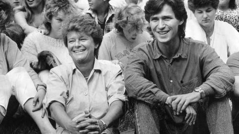 Jens Stoltenberg and Gro Harlem Brundtland back when Jens Stoltenberg was the leader of AUF and Gro Harlem Brundtland was prime minister of Norway