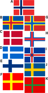 Nordic cross flags