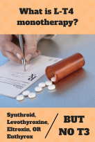 What is L-T4 monotherapy