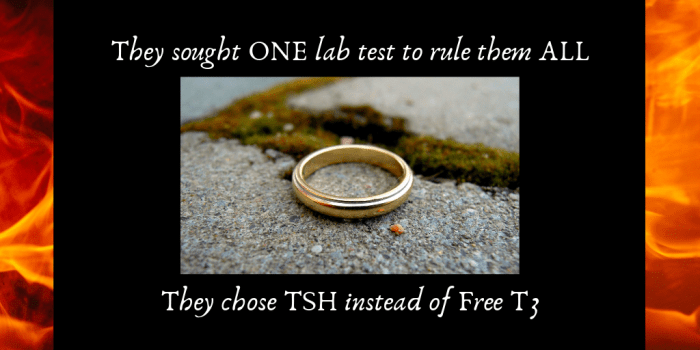 they sought one test to rule them all