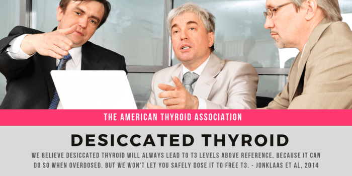 American Thyroid Association-desiccated