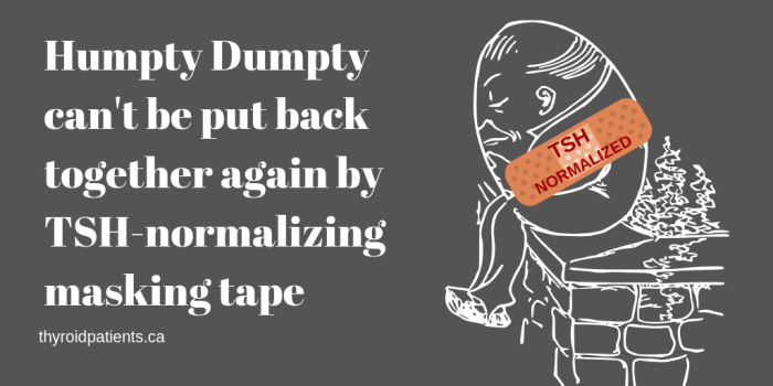 Humpty Dumpty can't be