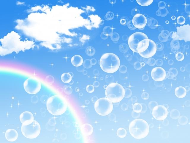虹とシャボン玉