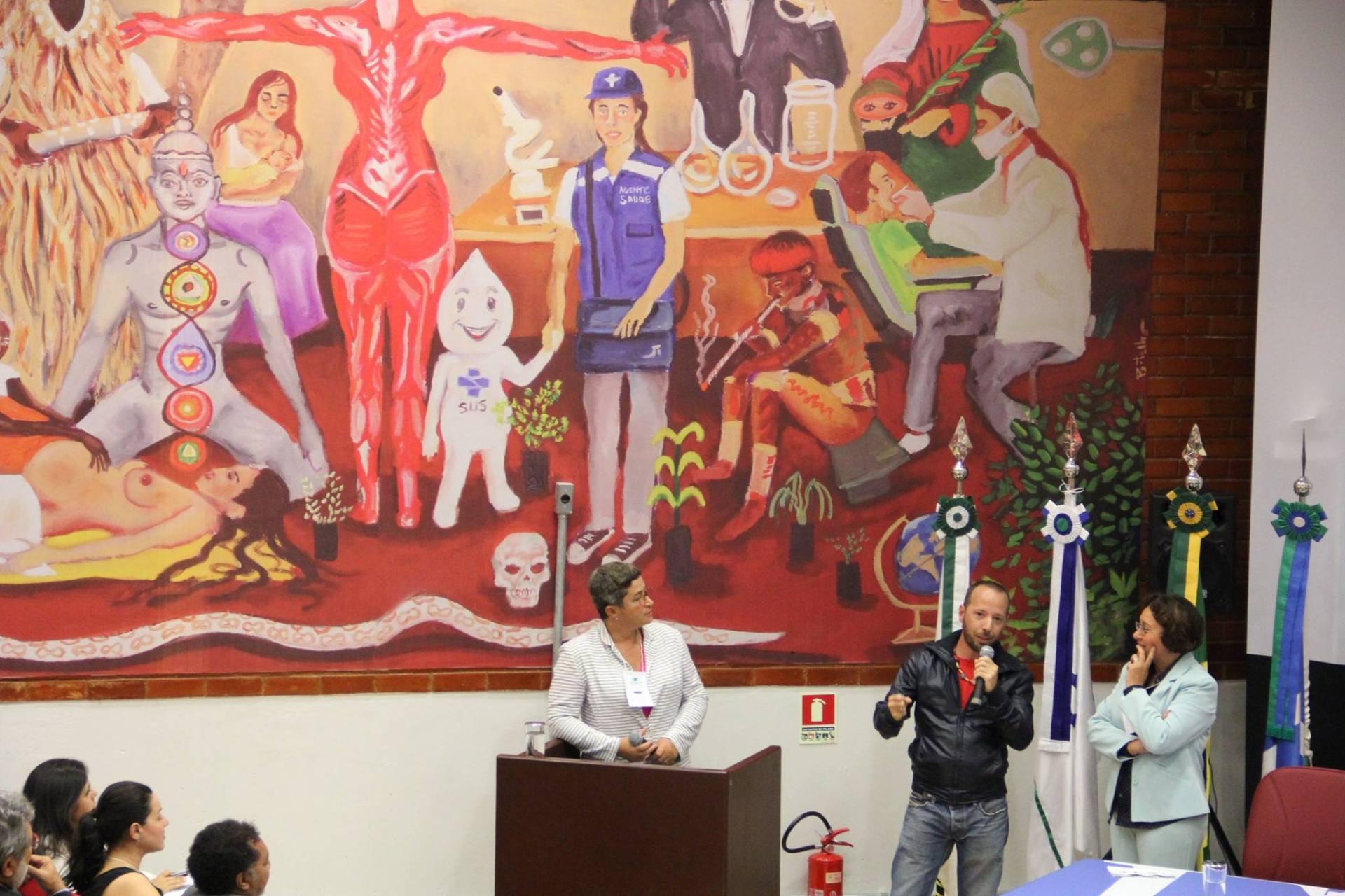 Dia de abertura do SIPIC - 1o Simpósio Internacional de Práticas Integrativas e Complementares Baseadas em Evidências , ocasião onde o painel foi apresentado ao público.
